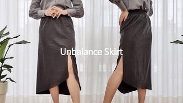 [Sewing Vlog] 패턴없이 쉽게만드는 언밸런스치마 :: No Pattern, Unbalance Skirt, Diagonal Skirt(ENG sub)