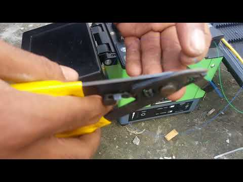 Splicing of fiber Optic Cable With Spliter bangla tutorial 2017