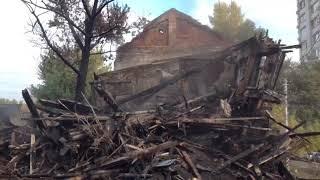 Только после пожара районные власти начали разбирать дом на Кузнечной