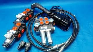 Hydraulic Kit VALVE 4 sections + JOYSTICK + SOLENOID x 2 +   JOHN DEERE video