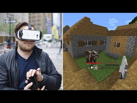 What Minecraft is like on Gear VR