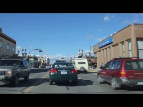 A drive through Whitehorse, Yukon Territory, Canada