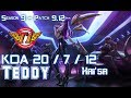 SKT T1 Teddy KAI'SA Vs EZREAL ADC - Patch 9.12 KR Ranked