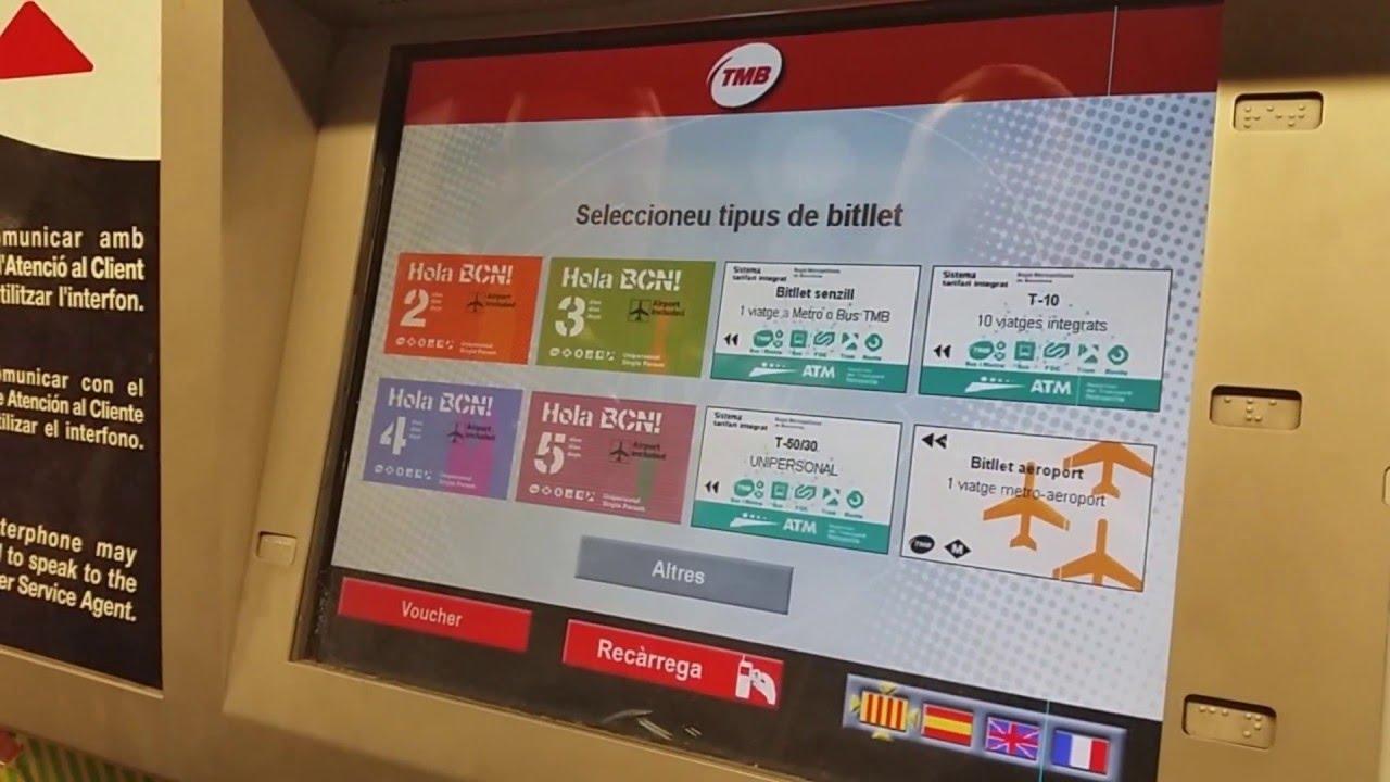 barcelona metro tickets youtube