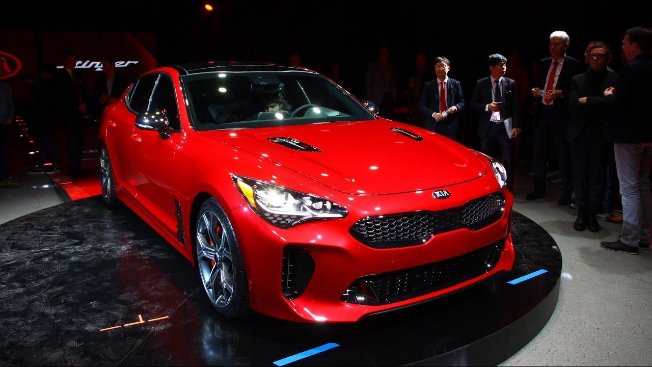 Kia Stinger First Look Detroit Auto Show YouTube - Kia car show