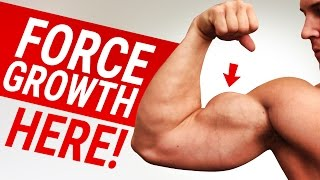 Force Stubborn Biceps TO GROW With This Exercise! | HELP FIX UNEVEN BICEPS TOO!