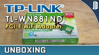TP-LINK TL-WN881ND 300Mbps WiFi PCI-E Adapter Unboxing + Overview