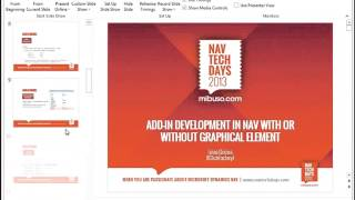 NAVTechDays2013 Add in Development in NAV with or without Graphical Element Microsoft Dynamics NAV