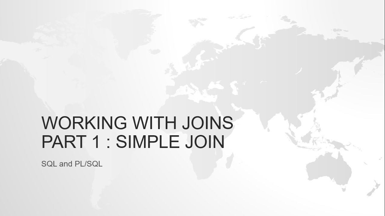 Inner join or simple join in oracle sql with example youtube.
