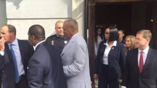 Bill Cosby quiet after pre-trial event