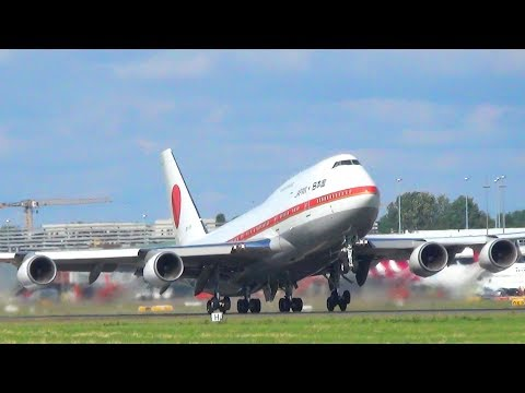 ✈ [G20 2017] Japan Air Self-Defence Force Boeing 747-400 Landing And Takeoff At Hamburg Airport