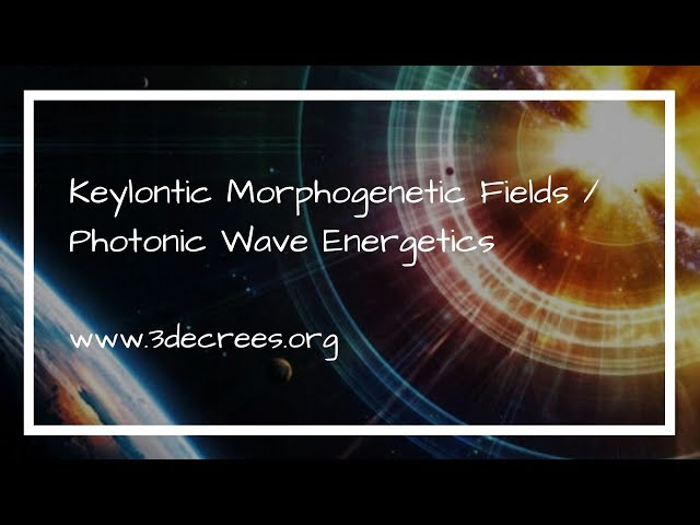 ASAP : Keylontic Morphogenetic Fields / Photonic Wave Energetics June 6 – 23, 2018