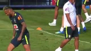 Neymar just ended his coach career in training