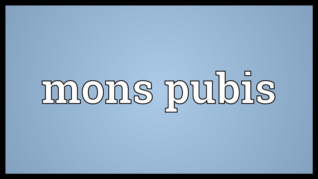 Mons pubis Meaning - YouTube