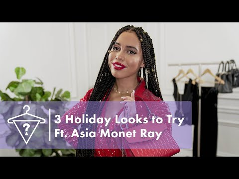 3 Holiday Party Looks To Try with Asia Monet Ray | #StyledByGUESS