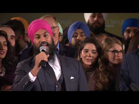 Jagmeet Singh calls for unity after winning NDP leadership on 1st ballot
