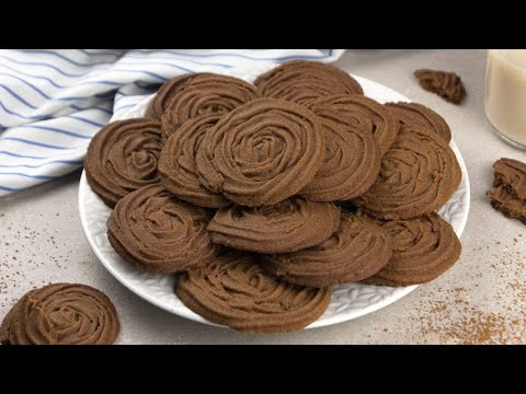 Butter cocoa cookies yummy and easy to prepare