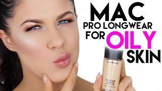 MAC PRO LONGWEAR FOUNDATION FOR OILY SKIN | 12 HOUR WEAR TEST + REVIEW!!