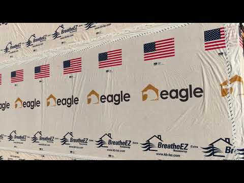 Construction contractors custom imprinted house wrap