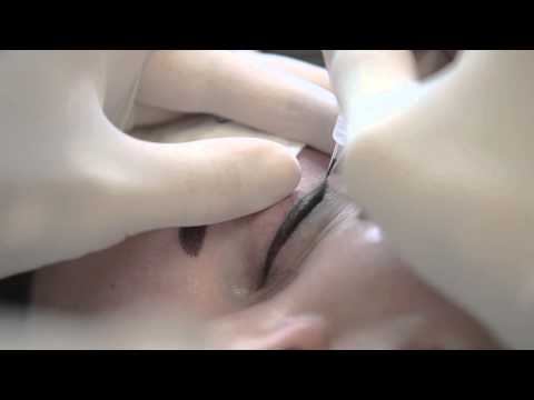 Makeup Tattoo. Permanent Makeup – Eyelids. High-Quality Video
