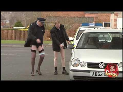 Policeman White Undies Prank