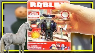 👻 HEADLESS HORSEMAN ROBLOX TOYS CORE PACK UNBOXING ON HALLOWEEN 🔥🎃🎃🔥 TRISTAN CREATIVE
