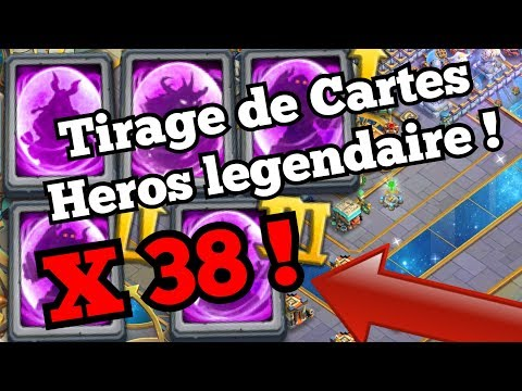 [Castle Clash FR] OUVERTURE 38 CARTES HEROS LEGENDAIRES !!