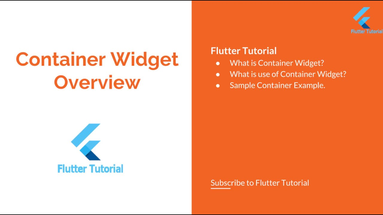 Container Widget with example Flutter Tutorial