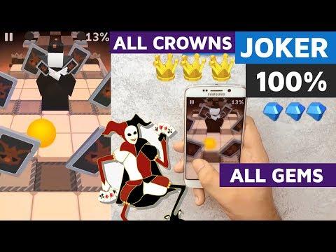Rolling Sky Joker BONUS 6 100% all 3 Crowns 10 Gems complete