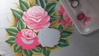 Pintando rosas Com Lia ribeiro