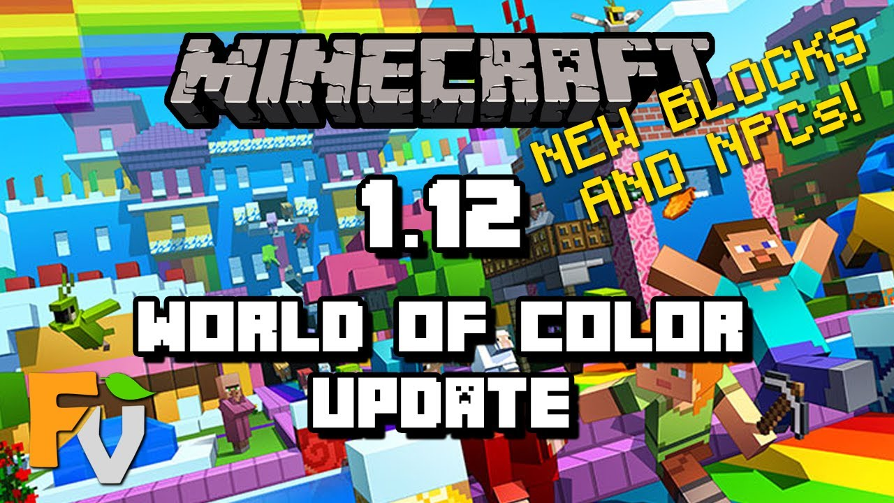 Minecraft 112 World Of Color Update New Blocks And Npcs