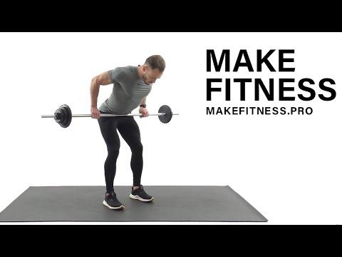 Тяга штанги в наклоне. Широчайшие мышцы спины. Техника выполнения.