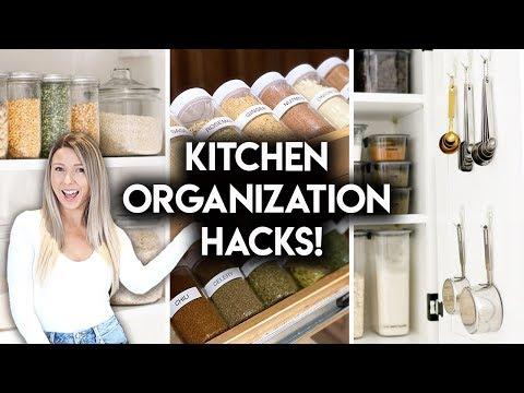 8 EASY KITCHEN ORGANIZATION IDEAS | DOLLAR STORE + IKEA HACKS - YouTube