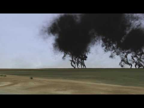 Burning Oil Fields (near Abadan, Iran) 2013