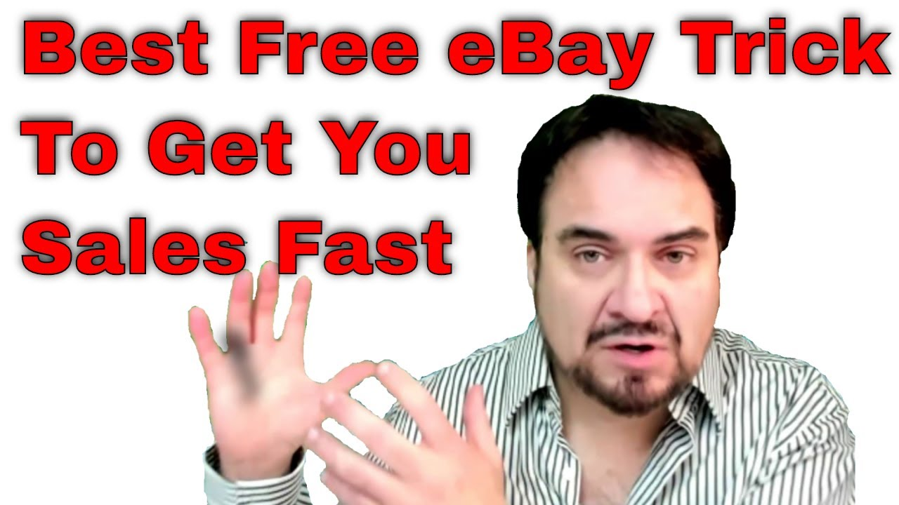 Best Free eBay Trick To Get You Sales Fast