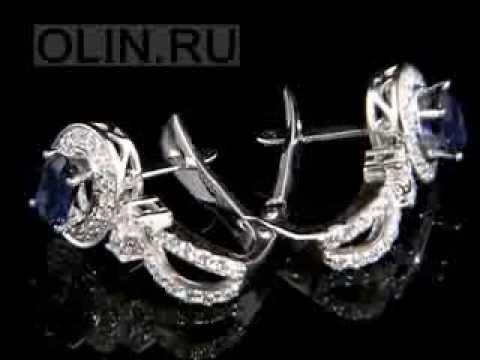 Ювелирные серьги золотые и серебряные серьги