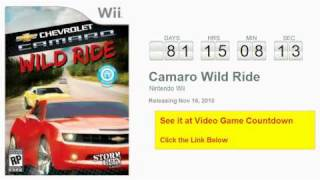 Camaro Wild Ride Wii Countdown
