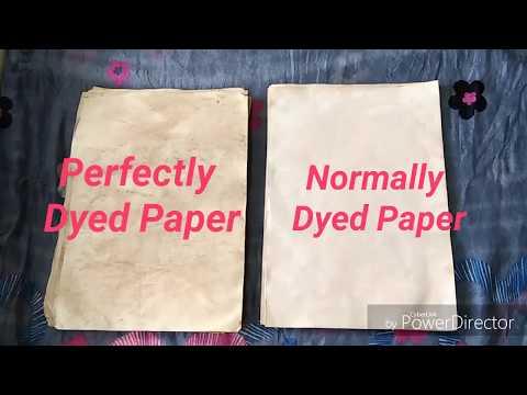 Perfect way to Tea Dye Paper | Paper Aging Technique | No oven | Creative Amalgam