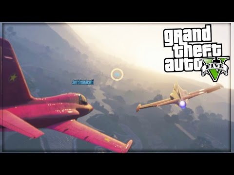 STEALING HELICOPTERS AND FLYING JETS - GTA...