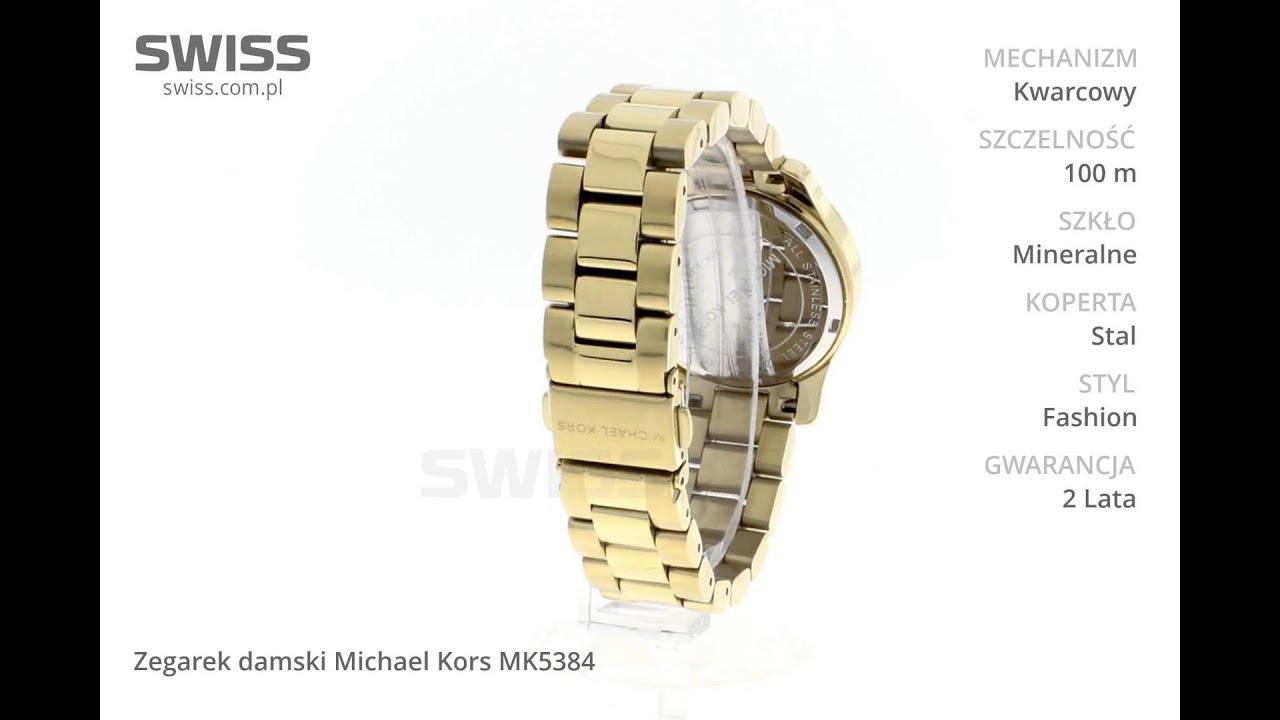 Chłodny www.swiss.com.pl - Zegarek damski Michael Kors MK5384 - YouTube VB42