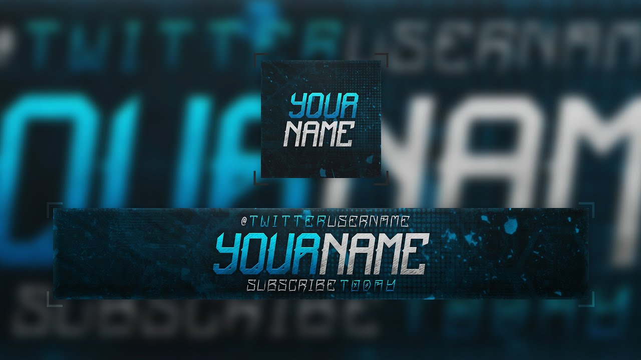 Free youtube banner template w profile picture youtube maxwellsz