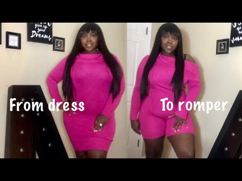 3c661b784 DIY old sweater dress into a romper in 10 minutes! ( no sewing ...