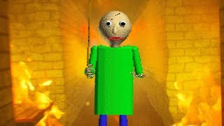 BURNING DOWN BALDIS SCHOOL HOUSE! (NEW) || Baldi's Basics in Education and Learning Remastered