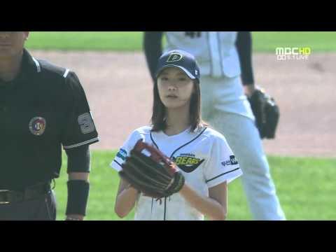 Yoona Ceremonial first pitch @ Jamshil baseball stadium Oct 10, 2009 GIRLS' GENERATION Live 720p HD
