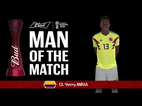 Yerry MINA (Colombia) - Man of the Match - MATCH 48