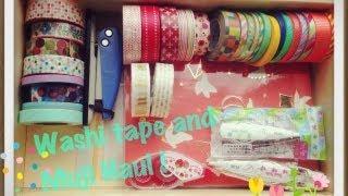 Pretty Japanese washi tape + Muji Haul Tokyu Hands 東急ハンズ和紙テープ