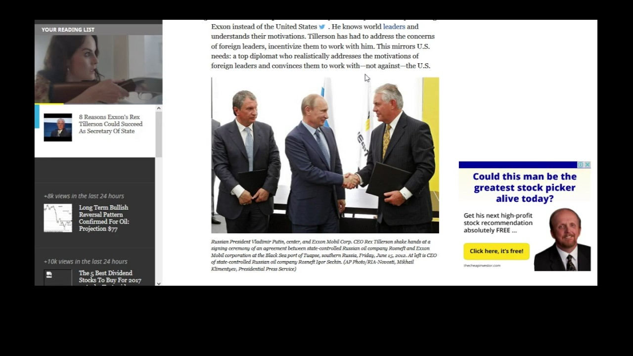 Image result for photos rex tillerson with Rosneft