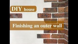 【DIYで家をつくる #34】外壁最終左官仕上げ/炭化コルクと天然水硬性石灰で作る外張り断熱壁構造の解説つき