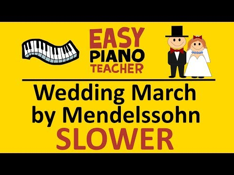 🎹 EASY Piano: Wedding March Keyboard Tutorial SLOW (Mendelssohn) By #EPT