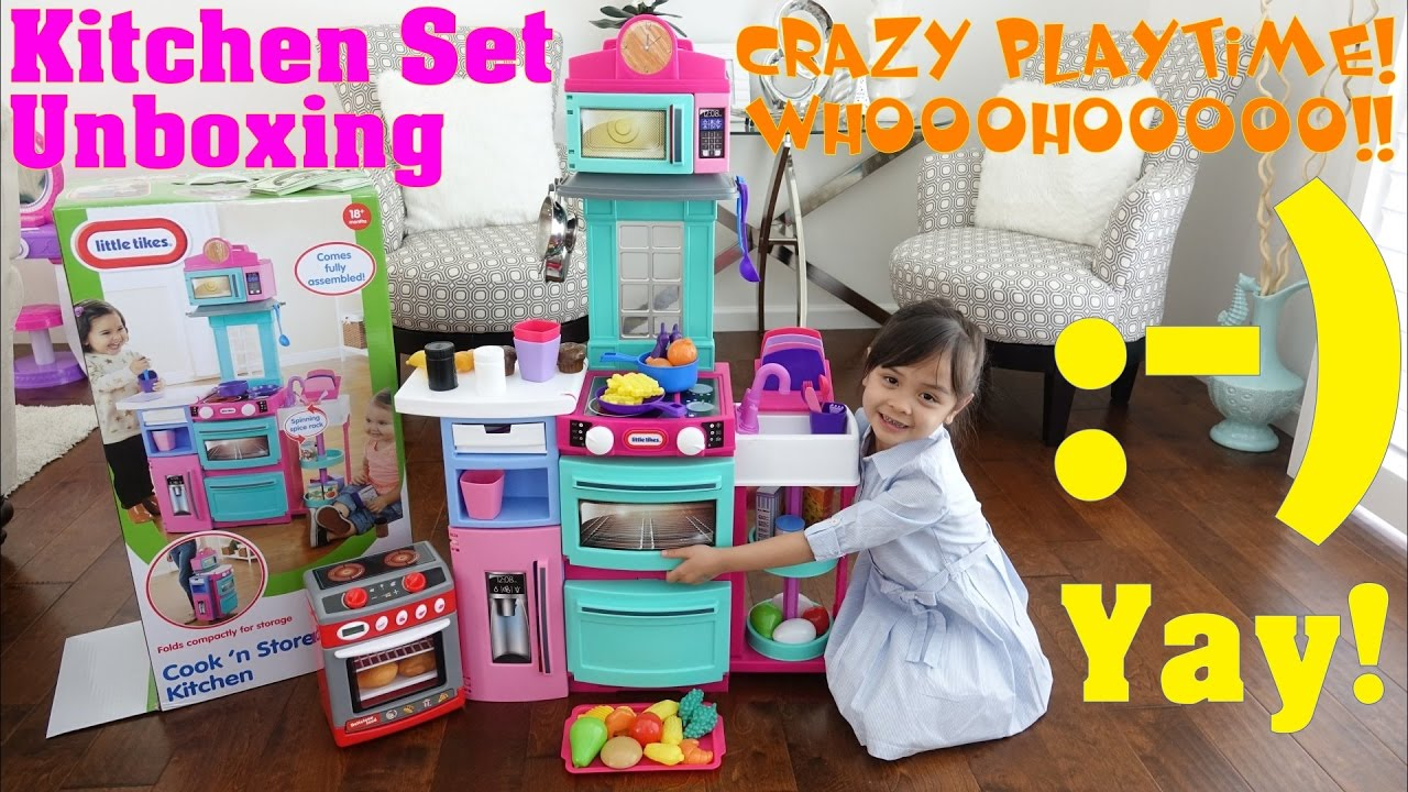 Kitchen Playset Unboxing Playtime Food Fun Little Tikes Cook And